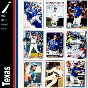 Texas Rangers 9 Card Lot - BBL [28_1]
